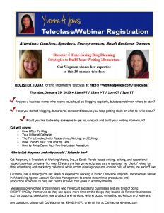Teleclass Event - Blogging Strategies with Cat Wagman