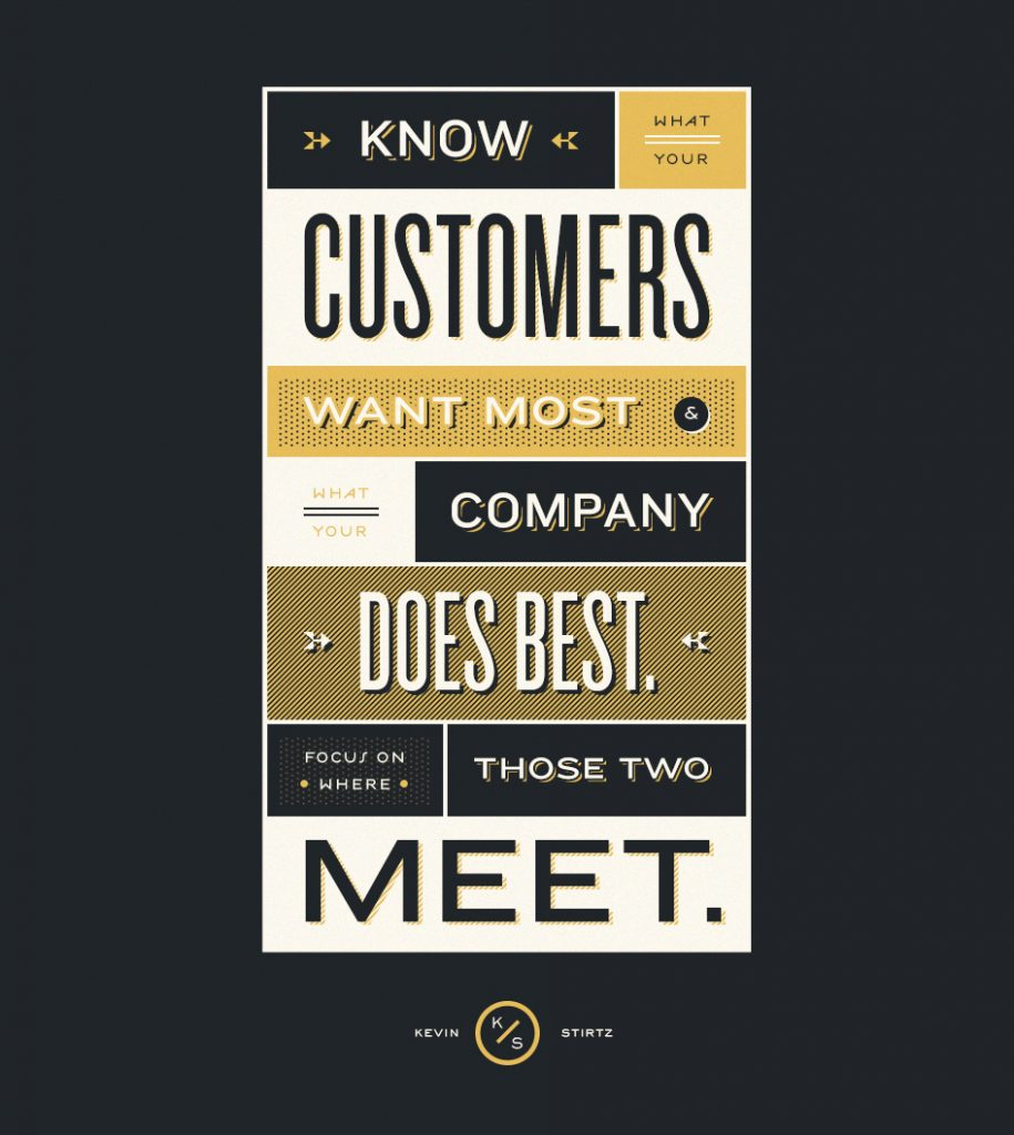 Listen to your customer