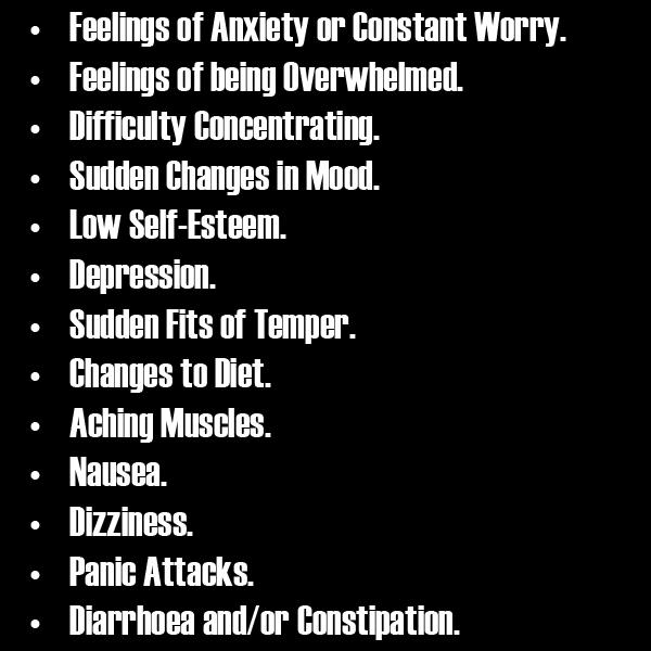 signs of stress